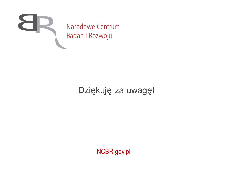 NCBR.gov.pl Dziękuję za uwagę!