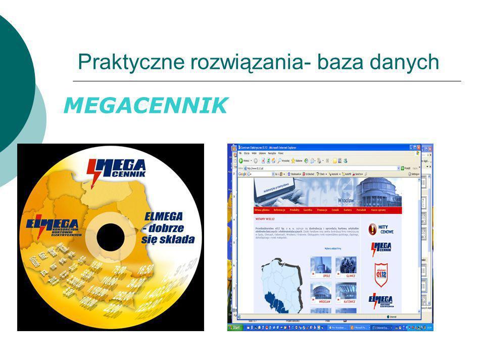 Praktyczne rozwiązania- baza danych MEGACENNIK