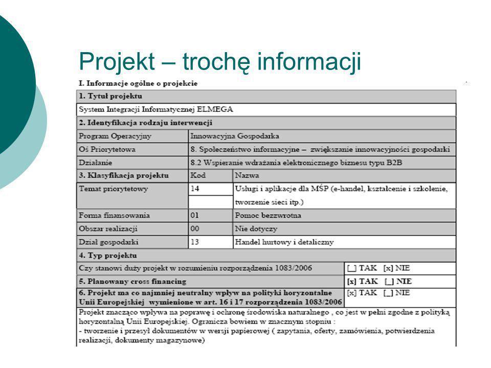 Projekt – trochę informacji