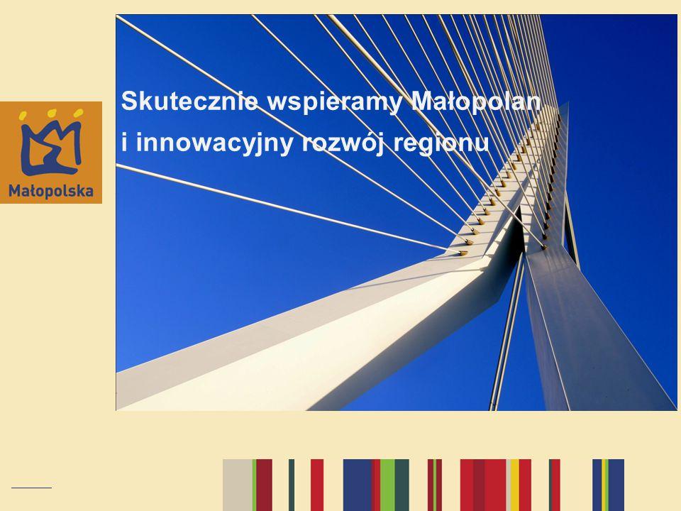 Skutecznie wspieramy Małopolan i innowacyjny rozwój regionu