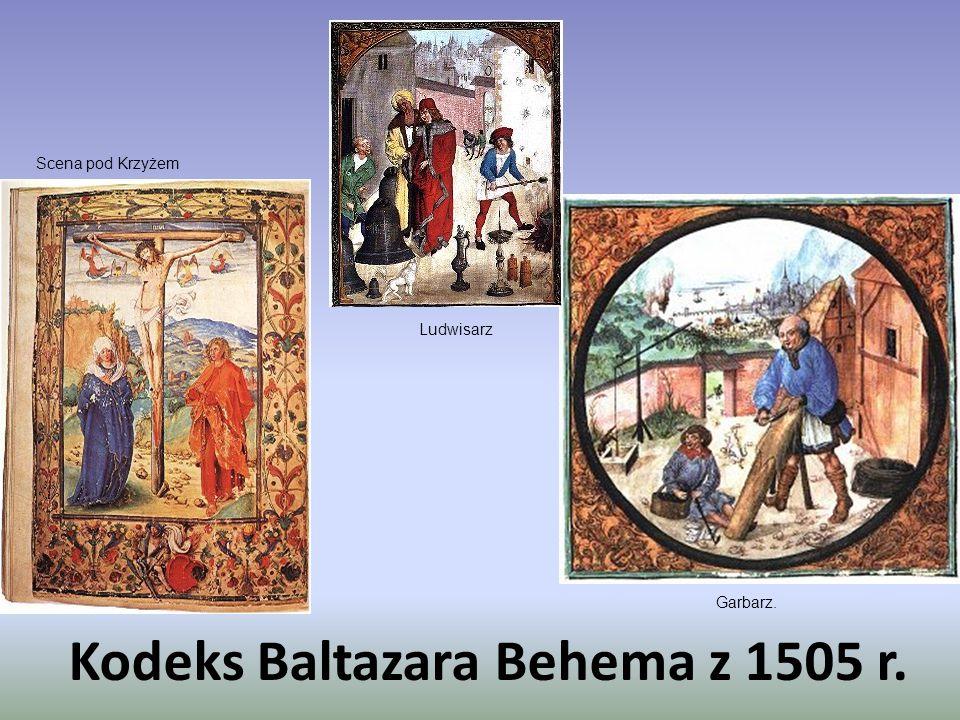 Kodeks Baltazara Behema z 1505 r. Ludwisarz Garbarz. Scena pod Krzyżem
