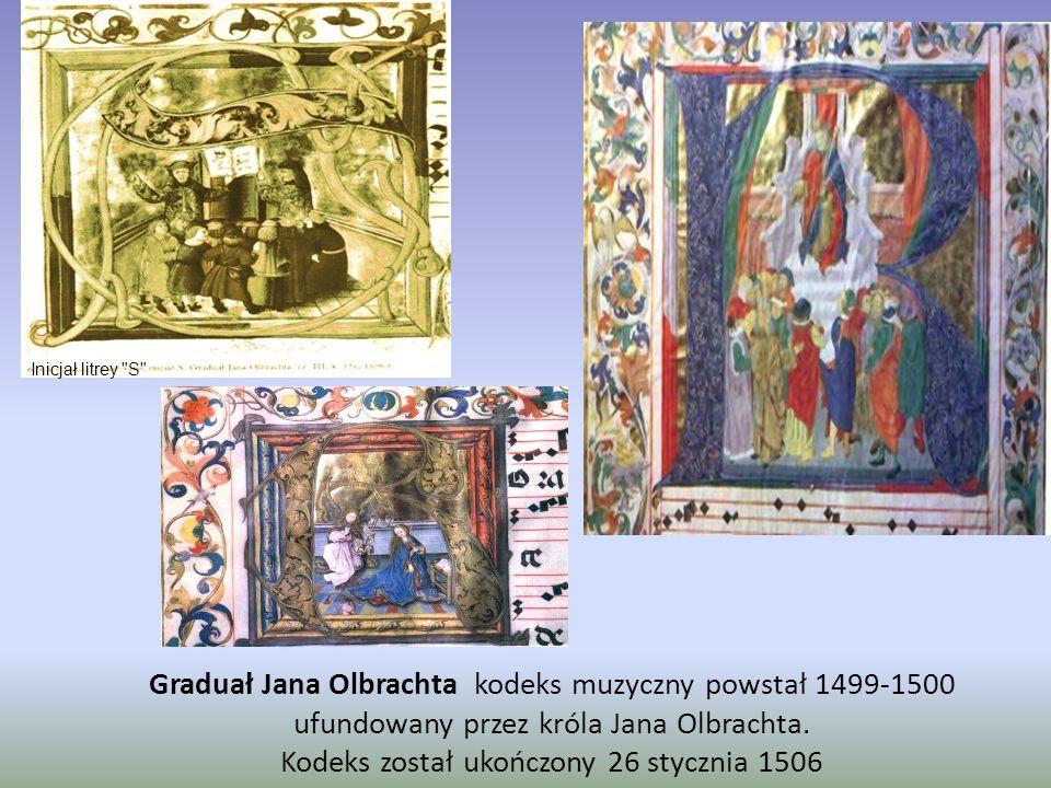 Mszał Erazma Ciołka wykonany został w latach 1513-1518 w Krakowie Inicjał litery B .