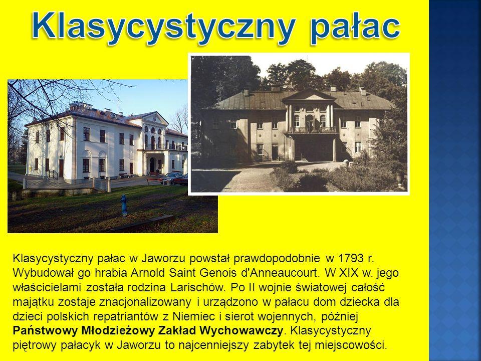 Klasycystyczny pałac w Jaworzu powstał prawdopodobnie w 1793 r.