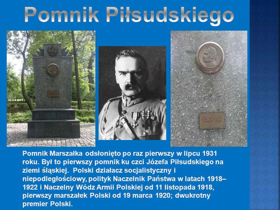 Pomnik Marszałka odsłonięto po raz pierwszy w lipcu 1931 roku.