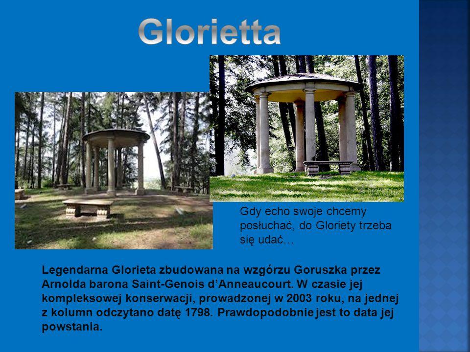 Legendarna Glorieta zbudowana na wzgórzu Goruszka przez Arnolda barona Saint-Genois d'Anneaucourt.