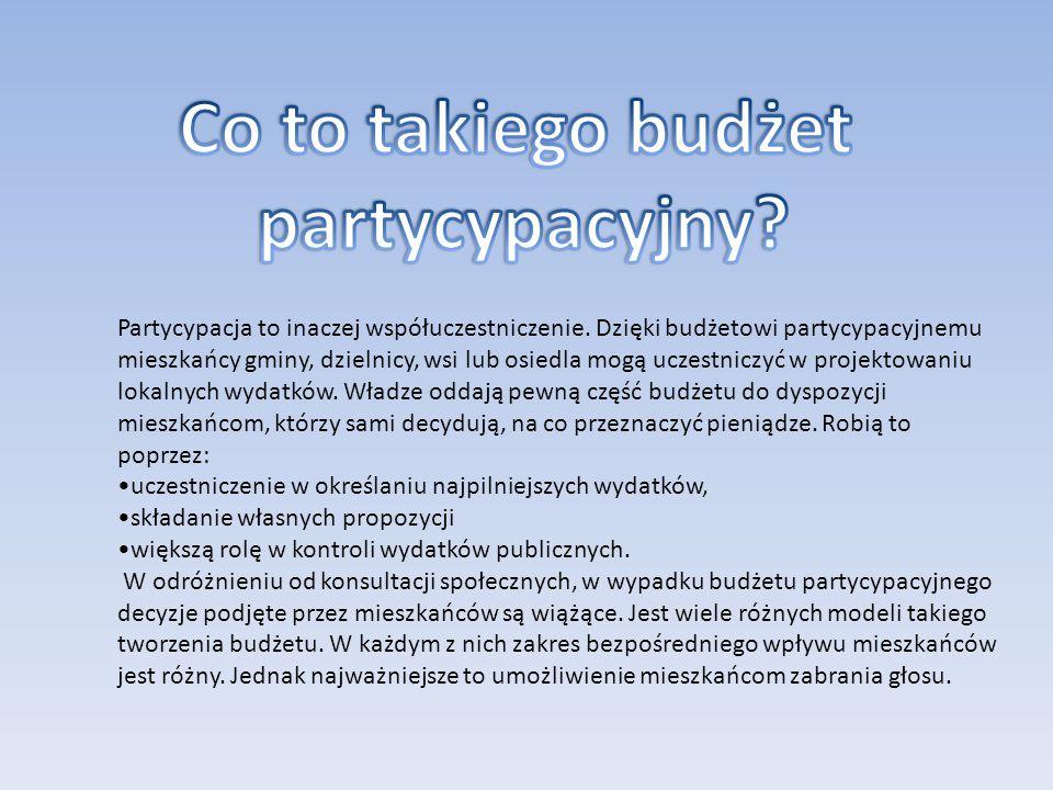 Partycypacja to inaczej współuczestniczenie.