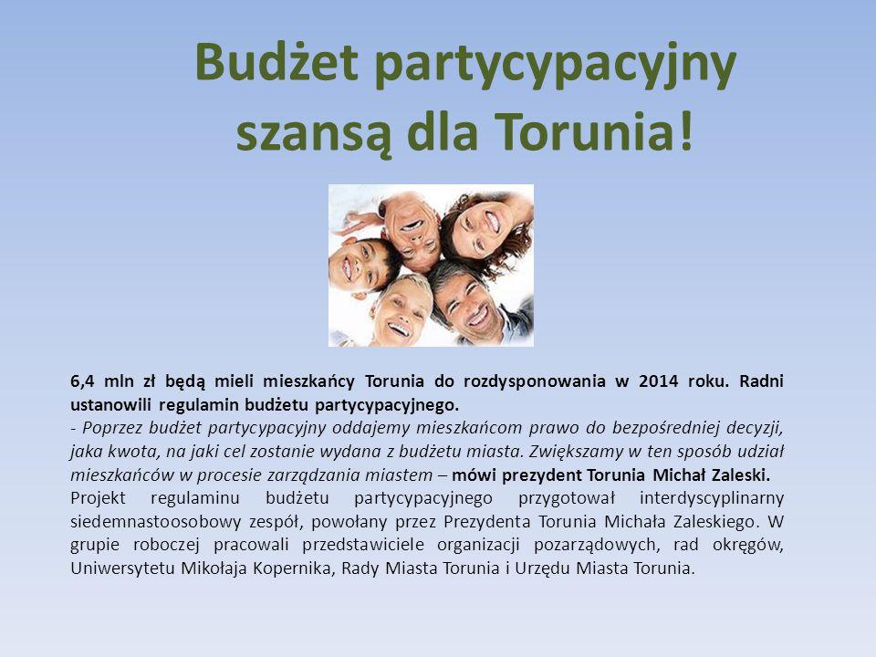 Budżet partycypacyjny szansą dla Torunia.