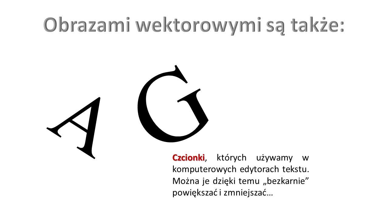 A G Czcionki Czcionki, których używamy w komputerowych edytorach tekstu.