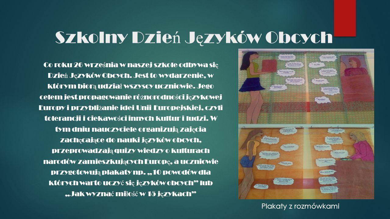 Angielski troch ę inaczej.Klasa dwuj ę zyczna powsta ł a w naszym gimnazjum w 2009 r.