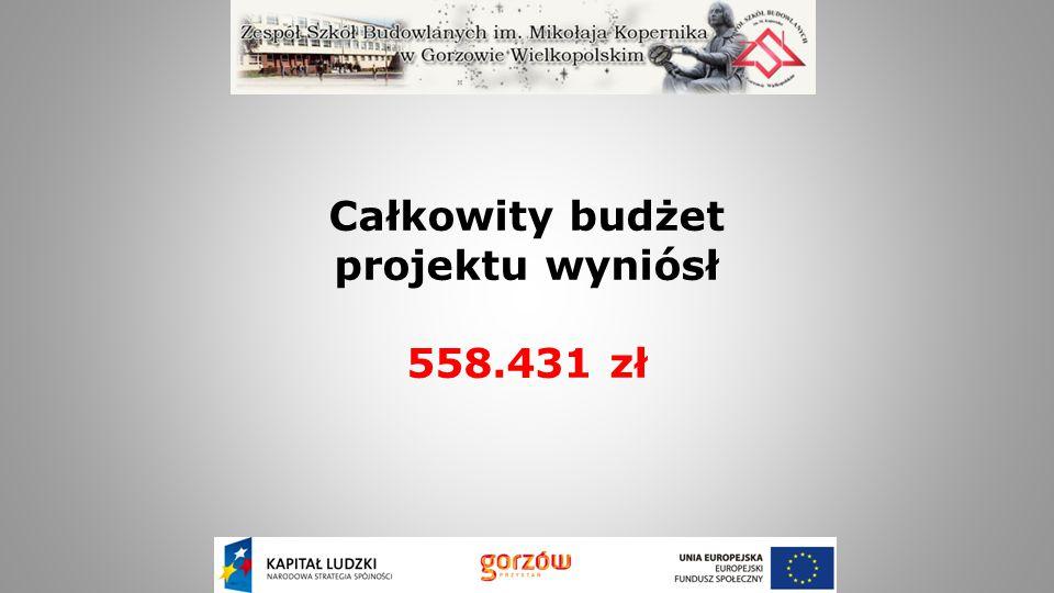 Całkowity budżet projektu wyniósł 558.431 zł