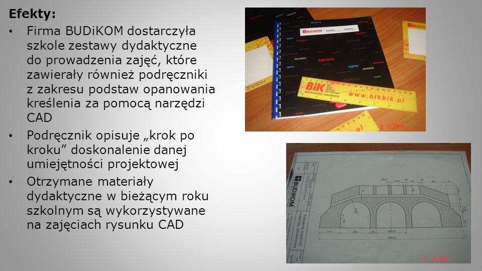 Efekty: Firma BUDiKOM dostarczyła szkole zestawy dydaktyczne do prowadzenia zajęć, które zawierały również podręczniki z zakresu podstaw opanowania kr