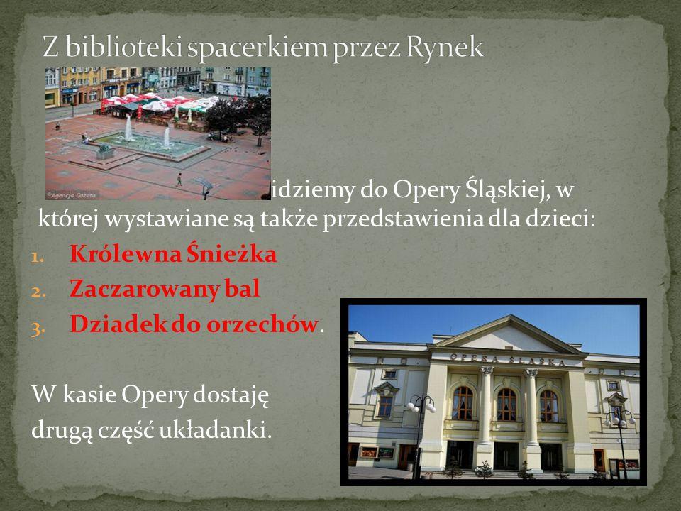 idziemy do Opery Śląskiej, w której wystawiane są także przedstawienia dla dzieci: 1.
