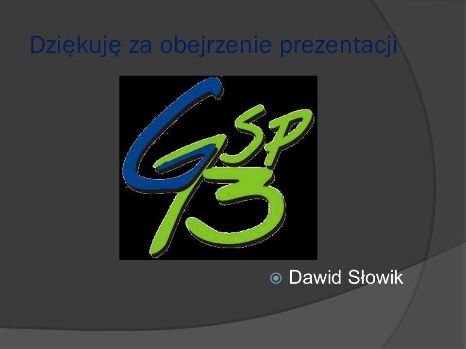 Dziękuję za obejrzenie prezentacji  Dawid Słowik