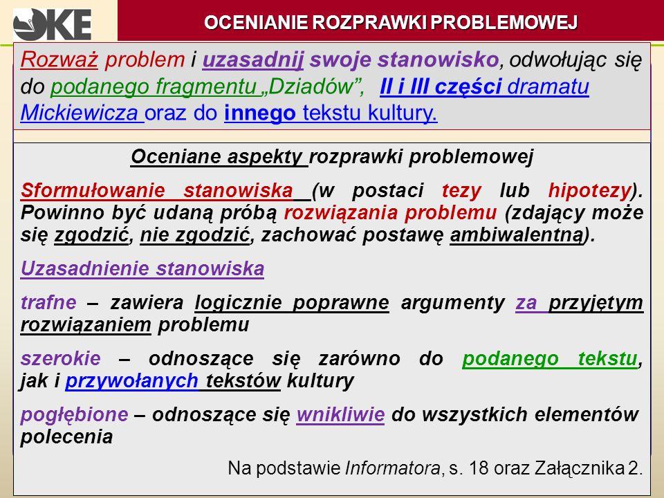 """Rozważ problem i uzasadnij swoje stanowisko, odwołując się do podanego fragmentu """"Dziadów"""", II i III części dramatu Mickiewicza oraz do innego tekstu"""