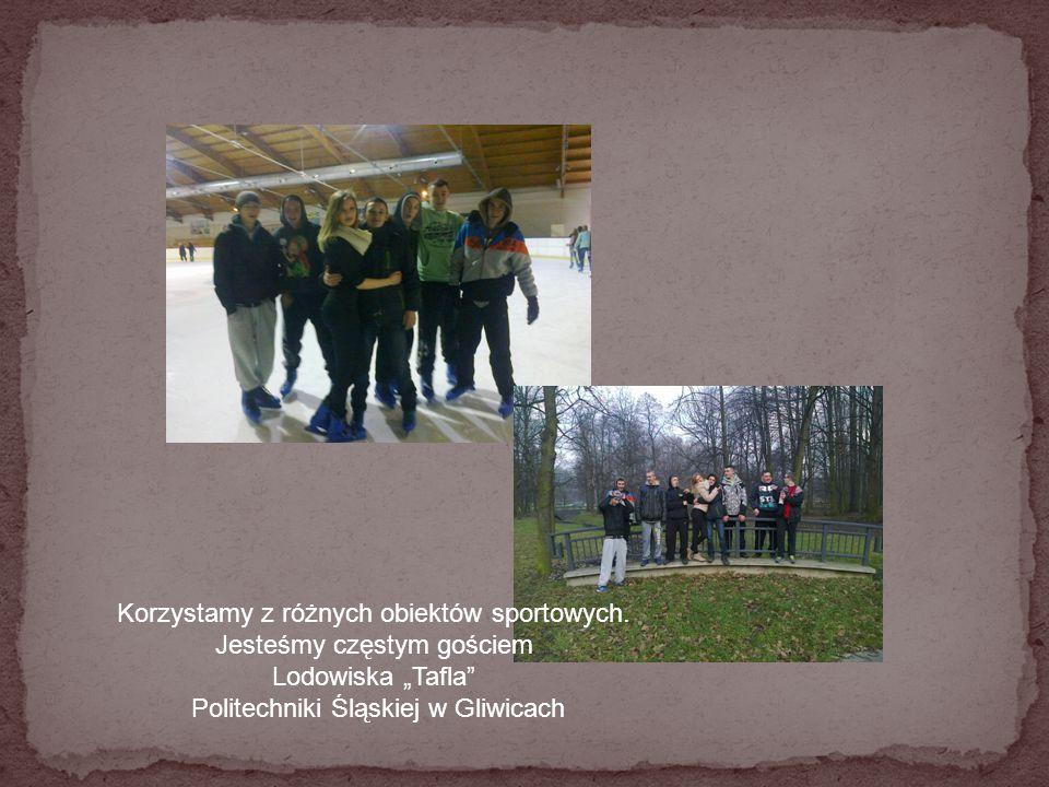 """Korzystamy z różnych obiektów sportowych. Jesteśmy częstym gościem Lodowiska """"Tafla"""" Politechniki Śląskiej w Gliwicach"""