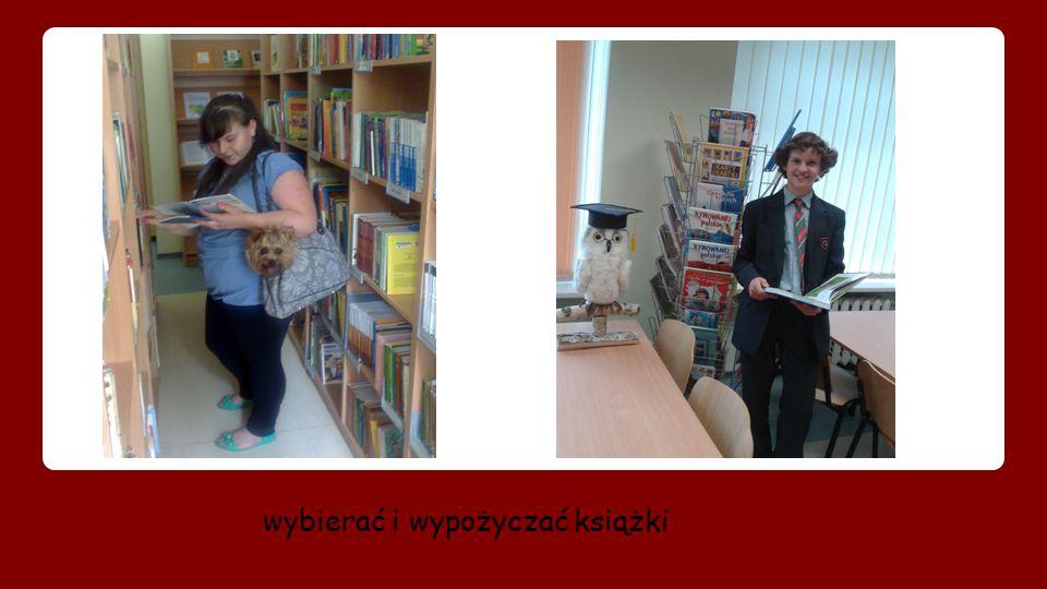 wybierać i wypożyczać książki