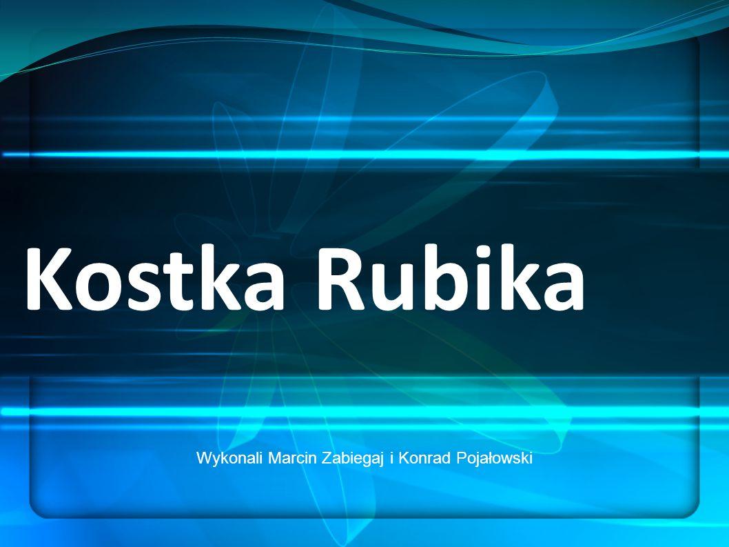 Kostka Rubika Wykonali Marcin Zabiegaj i Konrad Pojałowski