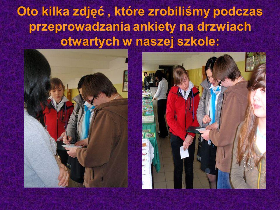 Oto kilka zdjęć, które zrobiliśmy podczas przeprowadzania ankiety na drzwiach otwartych w naszej szkole: