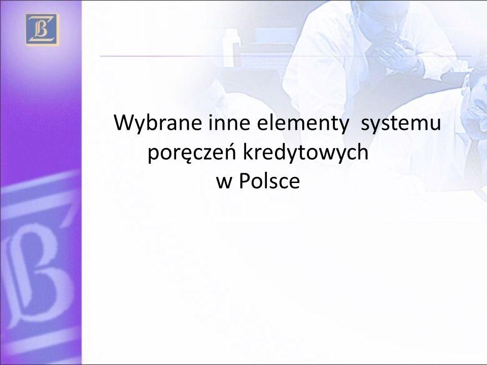 Wybrane inne elementy systemu poręczeń kredytowych w Polsce