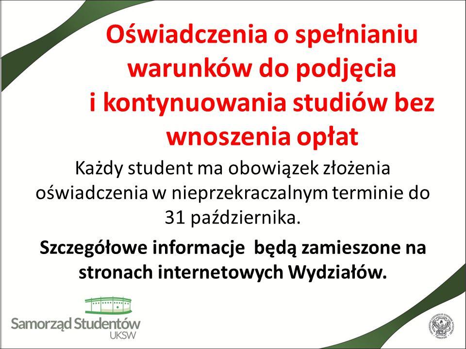 Przydatne strony www.samorzad.uksw.edu.pl - Samorząd Studentów UKSW www.samorzad.uksw.edu.pl www.uksw.edu.pl - strona UKSW www.uksw.edu.pl www.dpm.uksw.edu.pl - Dział Pomocy Materialnej UKSW www.dpm.uksw.edu.pl www.psrp.org.pl - Parlament Studentów Rzeczypospolitej Polskiej www.psrp.org.pl Strony wydziałowe