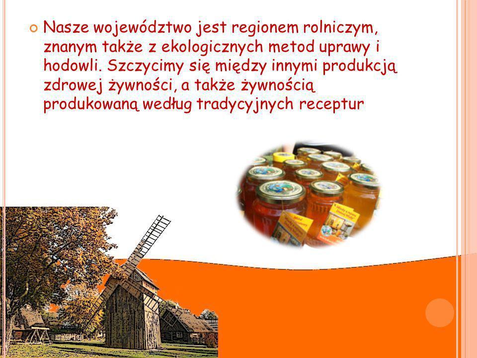 Nasze województwo jest regionem rolniczym, znanym także z ekologicznych metod uprawy i hodowli.
