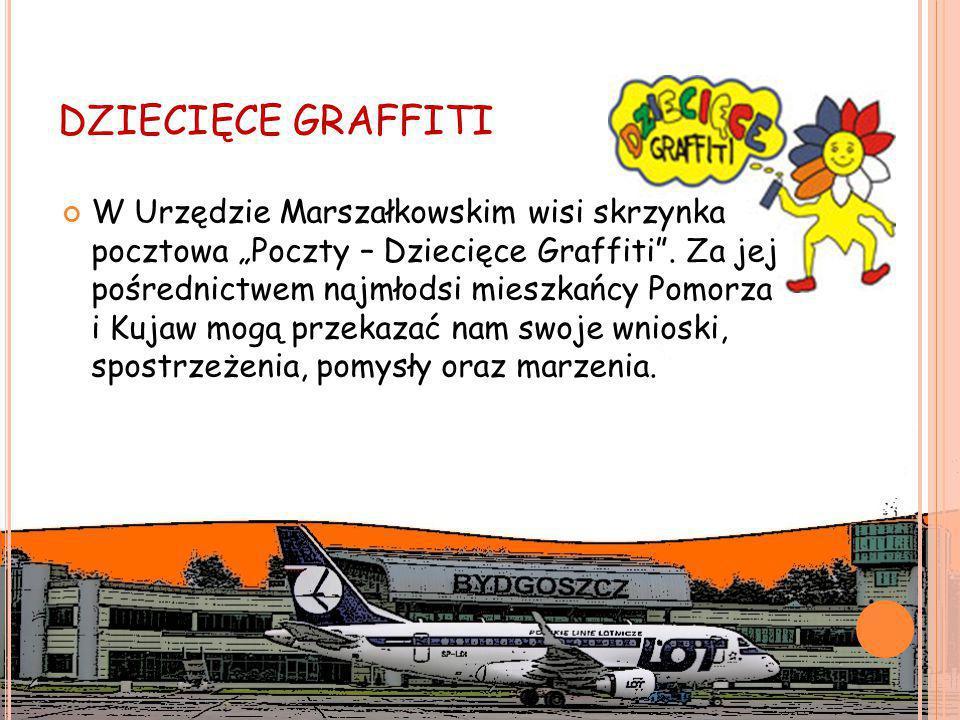 """DZIECIĘCE GRAFFITI W Urzędzie Marszałkowskim wisi skrzynka pocztowa """"Poczty – Dziecięce Graffiti ."""