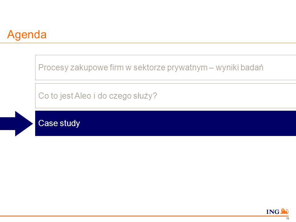 Do not put content in the Brand Signature area Agenda Procesy zakupowe firm w sektorze prywatnym – wyniki badań Co to jest Aleo i do czego służy? Case
