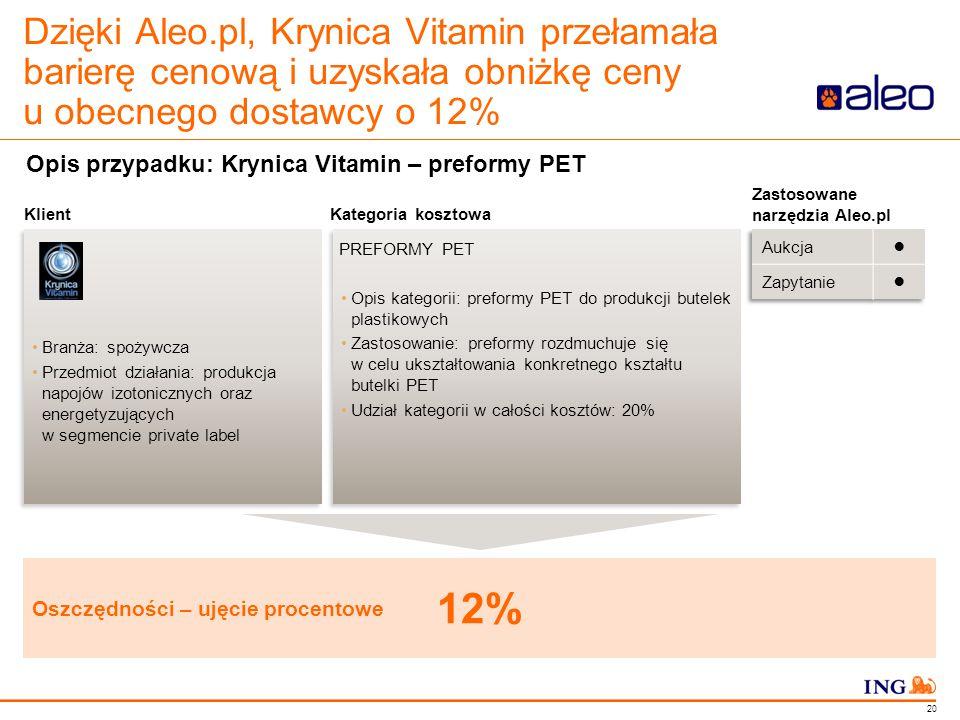 Do not put content in the Brand Signature area Dzięki Aleo.pl, Krynica Vitamin przełamała barierę cenową i uzyskała obniżkę ceny u obecnego dostawcy o