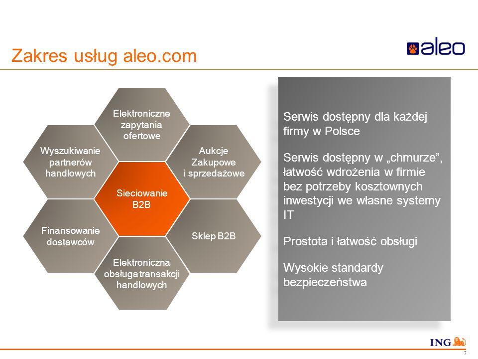 """Do not put content in the Brand Signature area Zakres usług aleo.com Serwis dostępny dla każdej firmy w Polsce Serwis dostępny w """"chmurze"""", łatwość wd"""