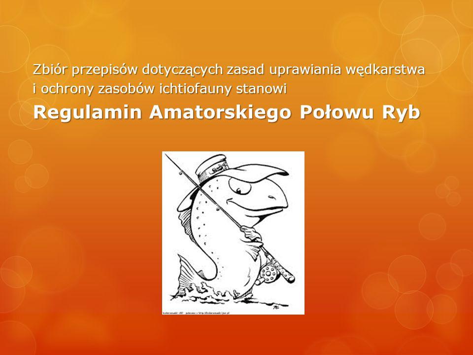 Zbiór przepisów dotyczących zasad uprawiania wędkarstwa i ochrony zasobów ichtiofauny stanowi Regulamin Amatorskiego Połowu Ryb