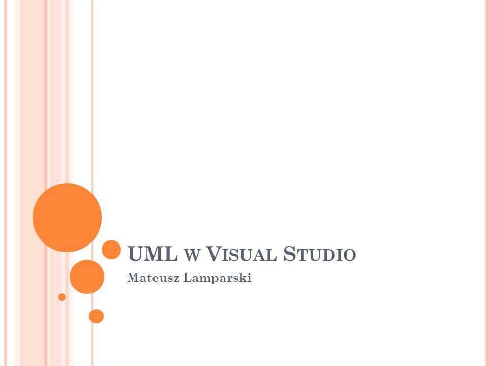 UML W V ISUAL S TUDIO Mateusz Lamparski