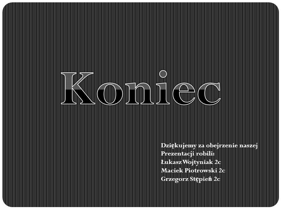 Dzi ę kujemy za obejrzenie naszej Prezentacji robili: Łukasz Wojtyniak 2c Maciek Piotrowski 2c Grzegorz St ę pie ń 2c