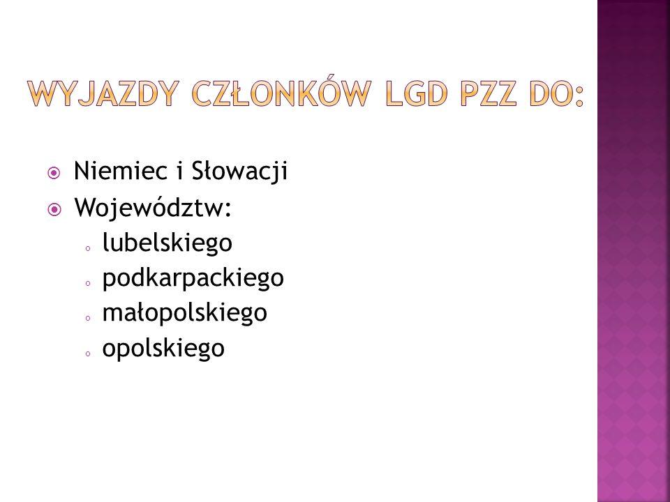  Niemiec i Słowacji  Województw: lubelskiego podkarpackiego małopolskiego opolskiego
