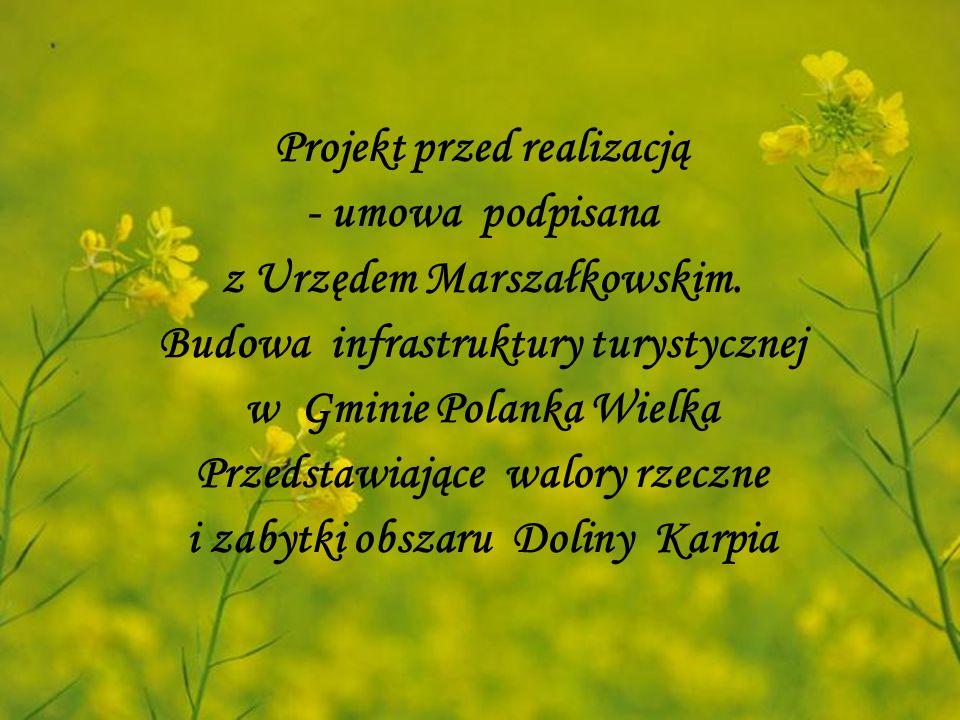 Projekt przed realizacją - umowa podpisana z Urzędem Marszałkowskim.