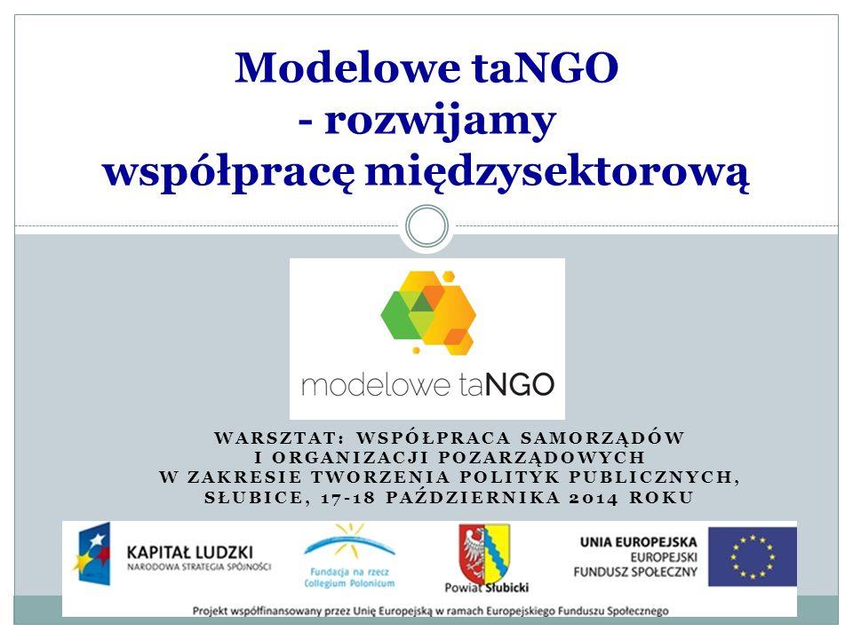 6.Wspieranie procesów integracji sektora organizacji pozarządowych 1.