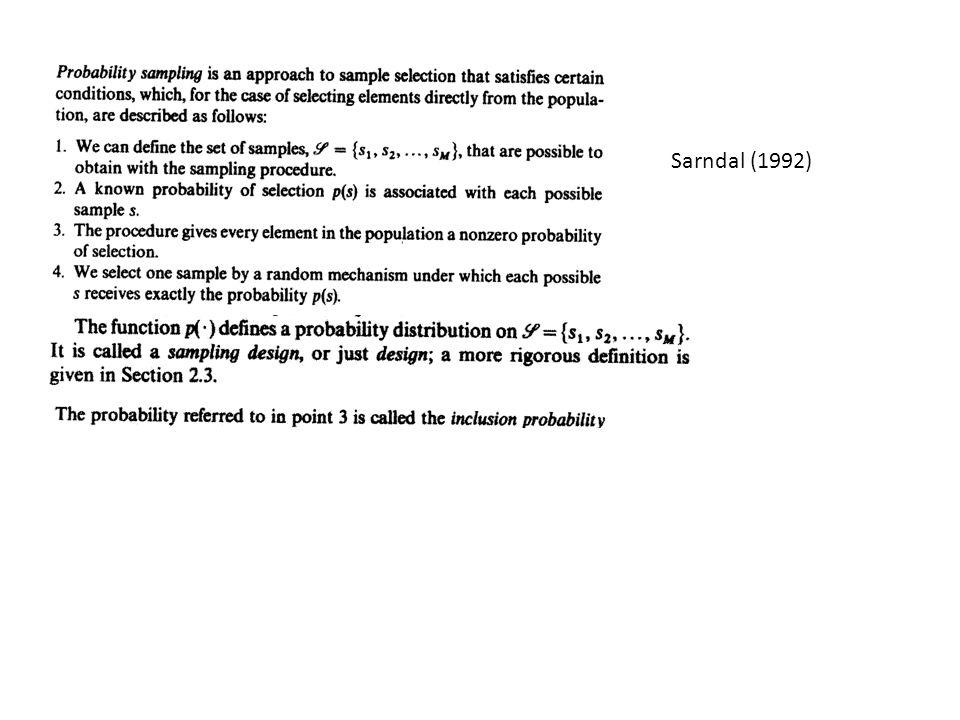 Sarndal (1992)