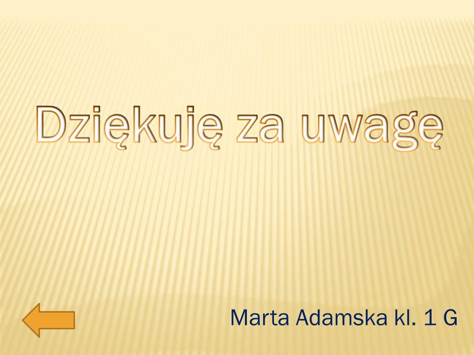 Marta Adamska kl. 1 G