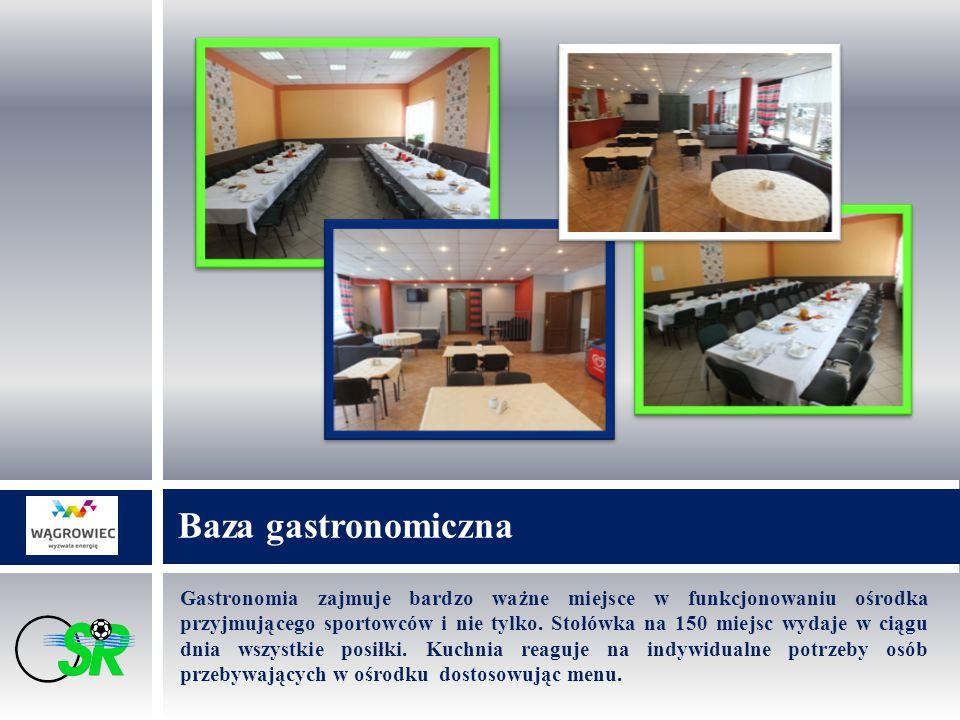 Gastronomia zajmuje bardzo ważne miejsce w funkcjonowaniu ośrodka przyjmującego sportowców i nie tylko. Stołówka na 150 miejsc wydaje w ciągu dnia wsz
