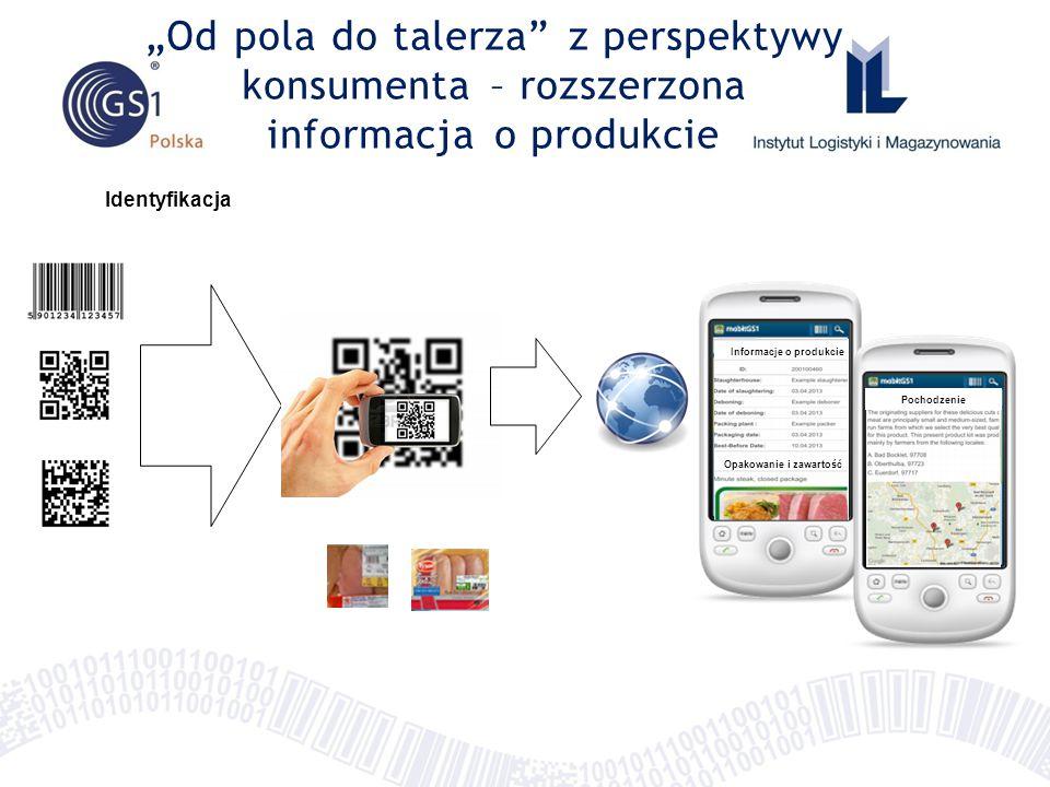 """Identyfikacja """"Od pola do talerza z perspektywy konsumenta – rozszerzona informacja o produkcie Informacje o produkcie Opakowanie i zawartość Pochodzenie"""