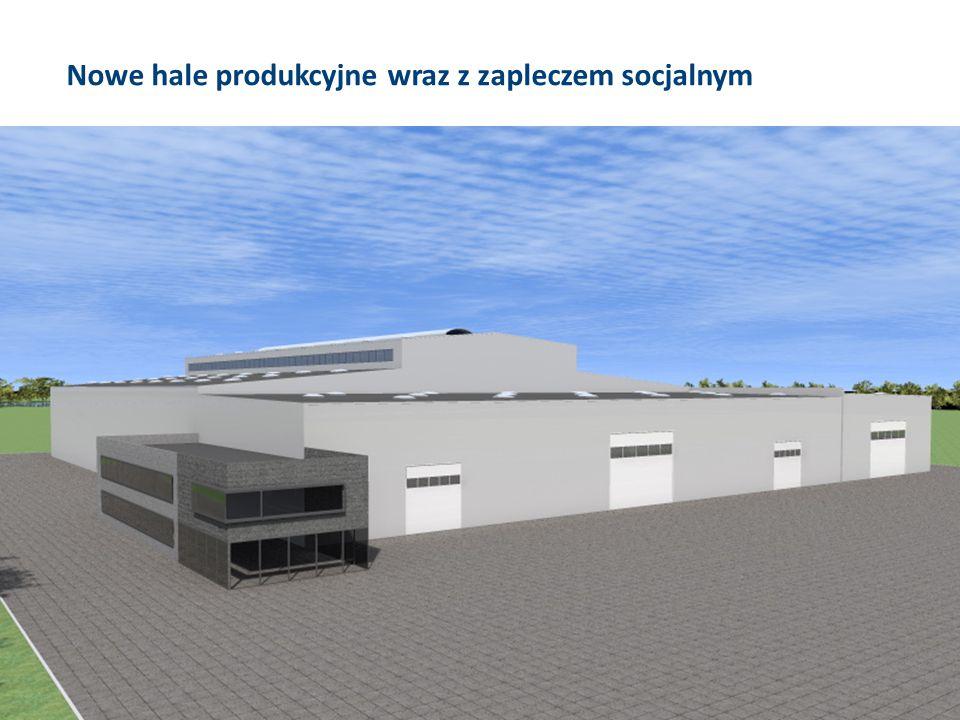 Nowe hale produkcyjne wraz z zapleczem socjalnym