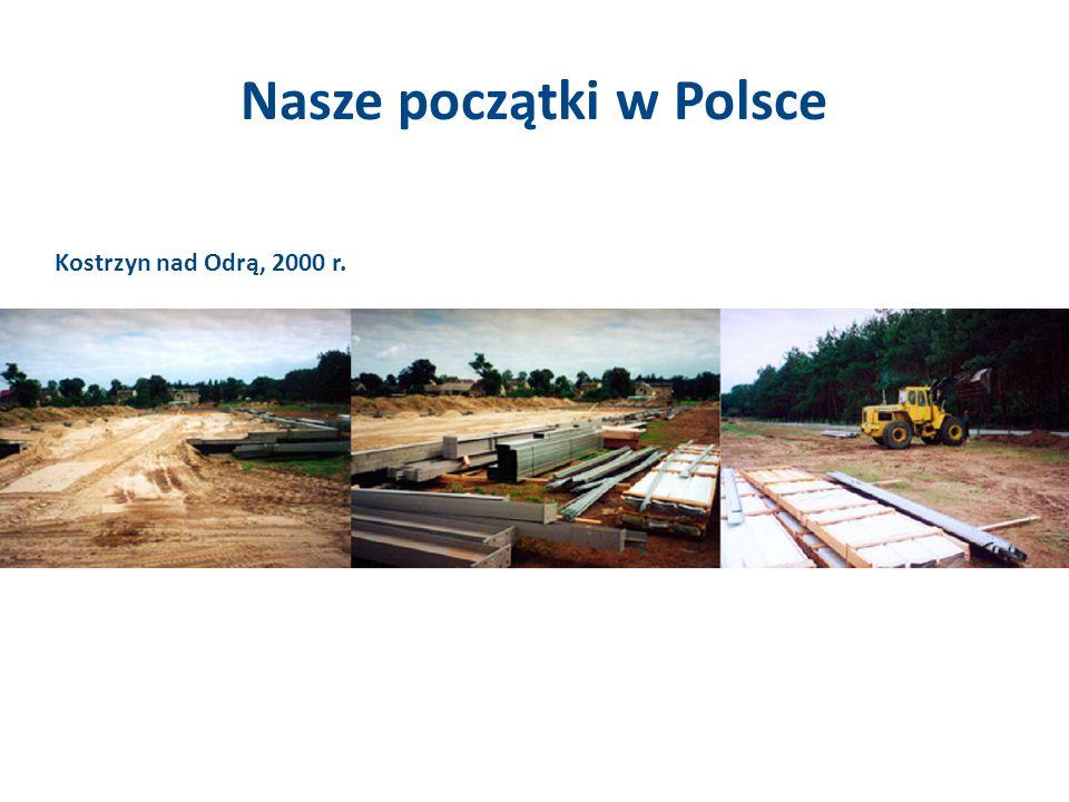 Nasze początki w Polsce Kostrzyn nad Odrą, 2000 r.