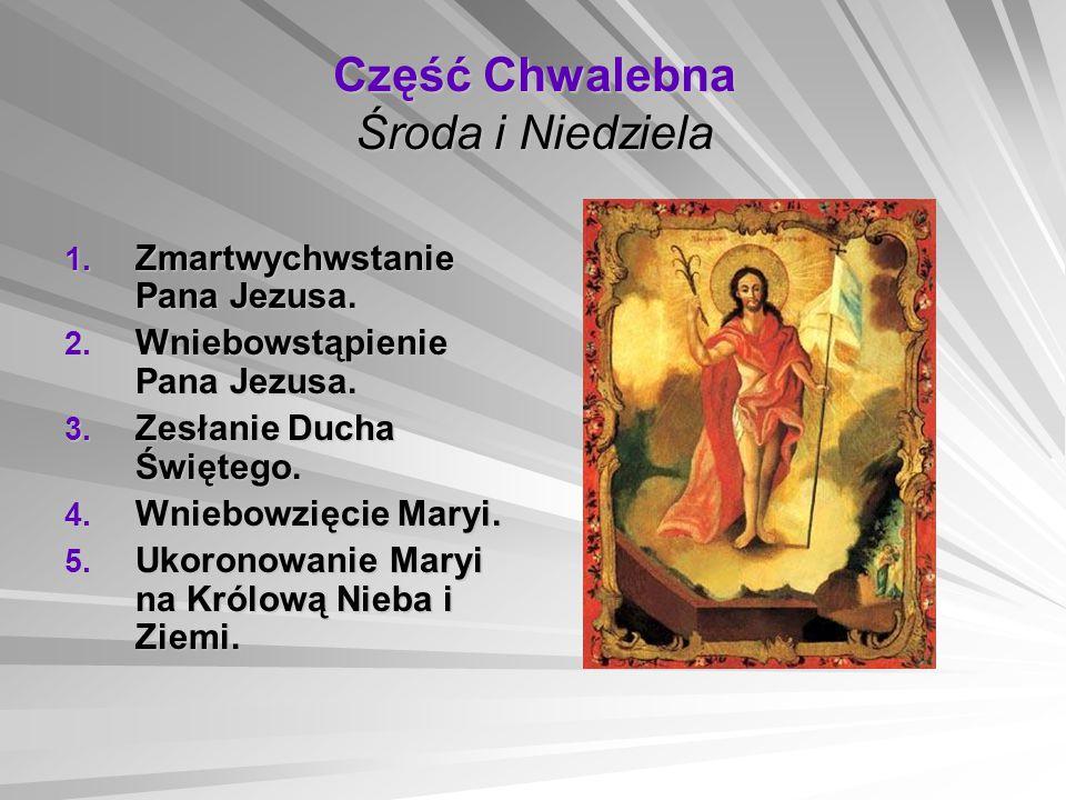 Część Chwalebna Środa i Niedziela 1.Zmartwychwstanie Pana Jezusa.