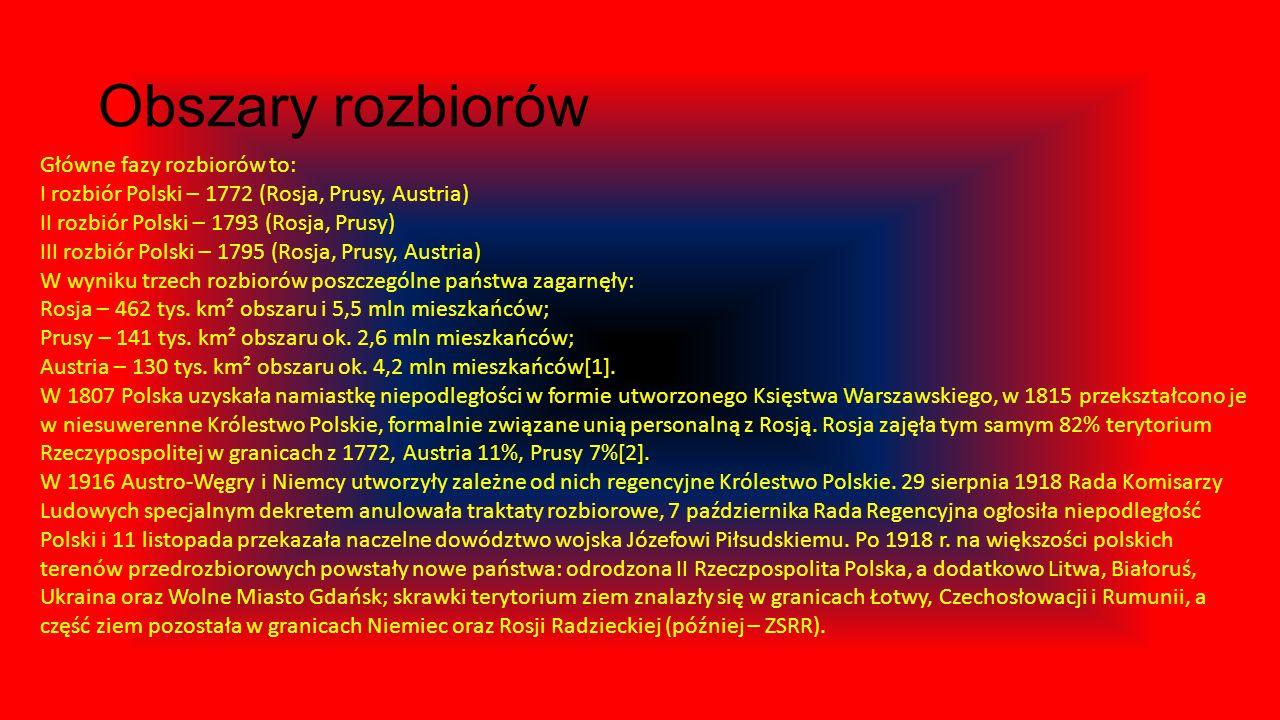 Rozbiory Polski – okres w dziejach Polski w latach 1772–1795, kiedy Rzeczpospolita Obojga Narodów za sprawą Rosji, Prus i Austrii dokonała na ich rzec