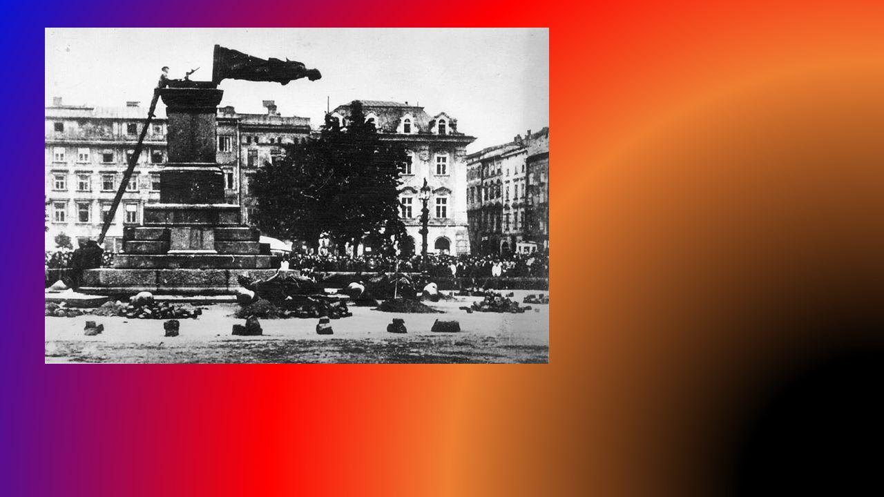 Germanizacja ziem polskich Przymusowa germanizacja na ziemiach polskich – polegała na narzucaniu rdzennym mieszkańcom ziem polskich języka niemieckieg