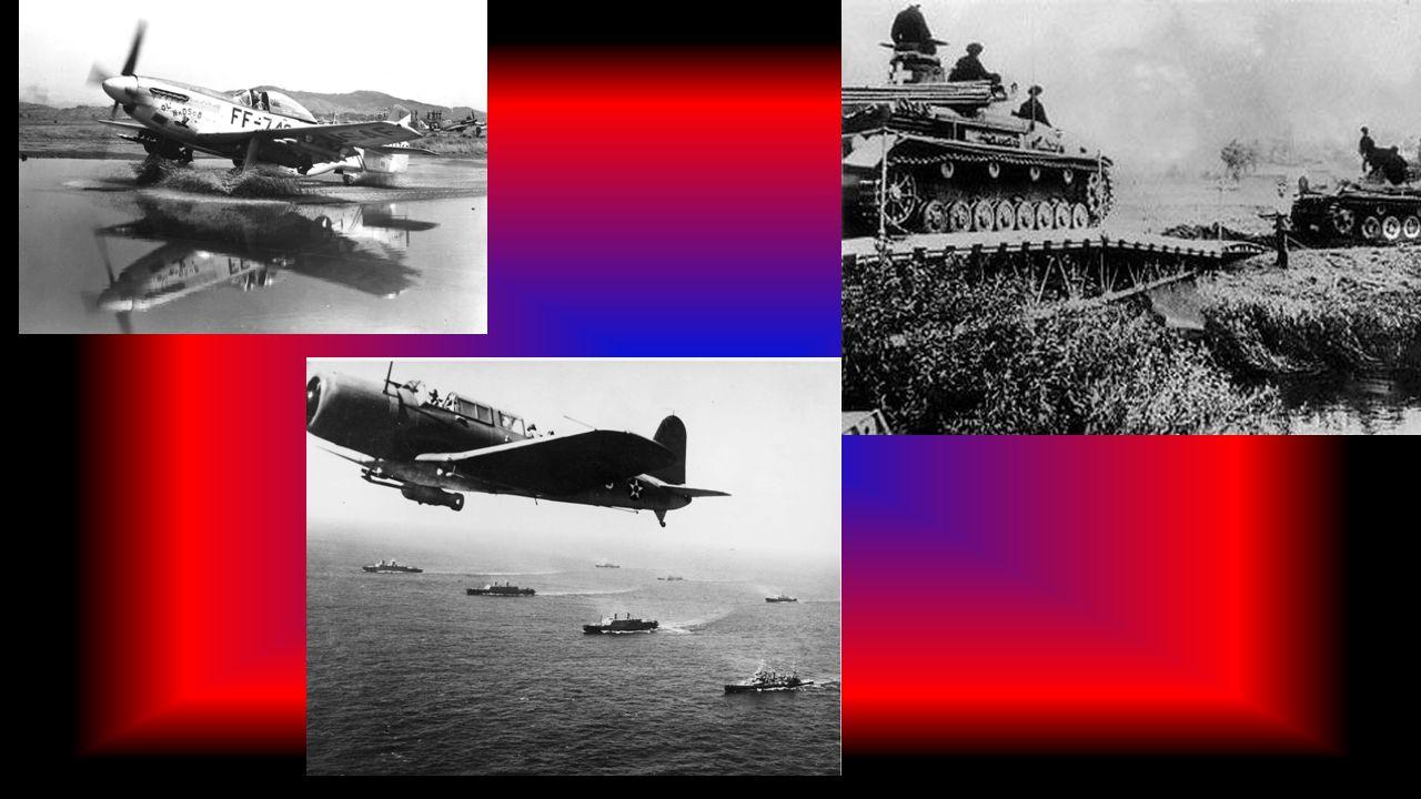 II Wojna Światowa Za datę rozpoczęcia wojny przyjmuje się 1 września 1939 roku – atak Niemiec na Polskę. 3 września przystąpiły do wojny Wielka Brytan