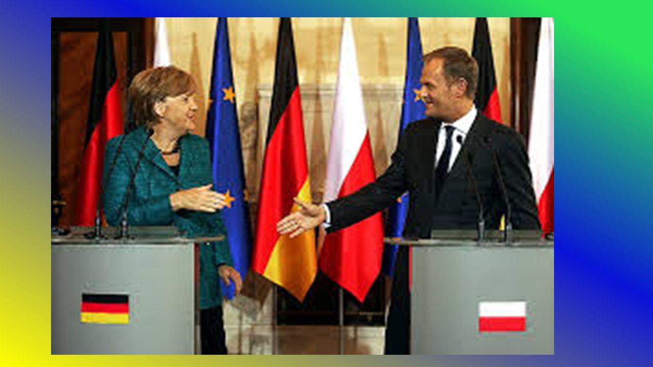 Współczesne relacje Polski i Niemiec Obserwujemy wysoki poziom polsko-niemieckiej współpracy na szczeblu europejskim i umacniania się polsko-niemiecki