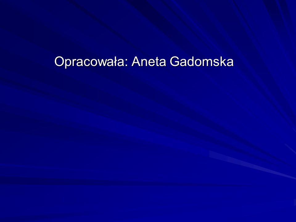 Opracowała: Aneta Gadomska Opracowała: Aneta Gadomska