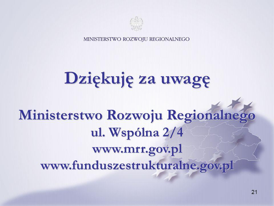 21 Ministerstwo Rozwoju Regionalnego ul.