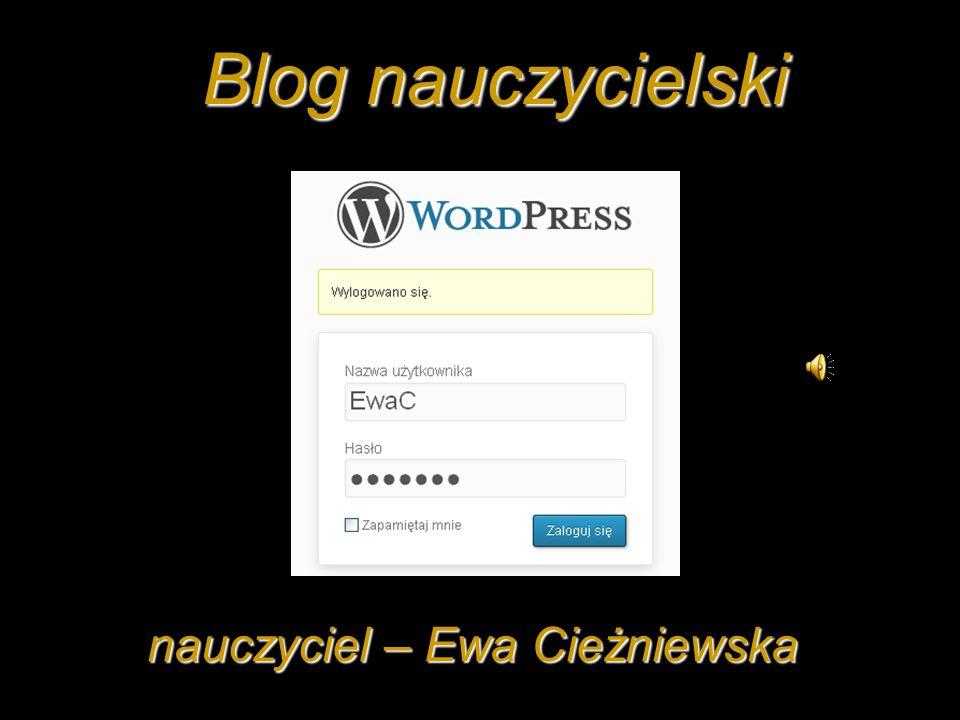 Blog nauczycielski nauczyciel – Ewa Cieżniewska