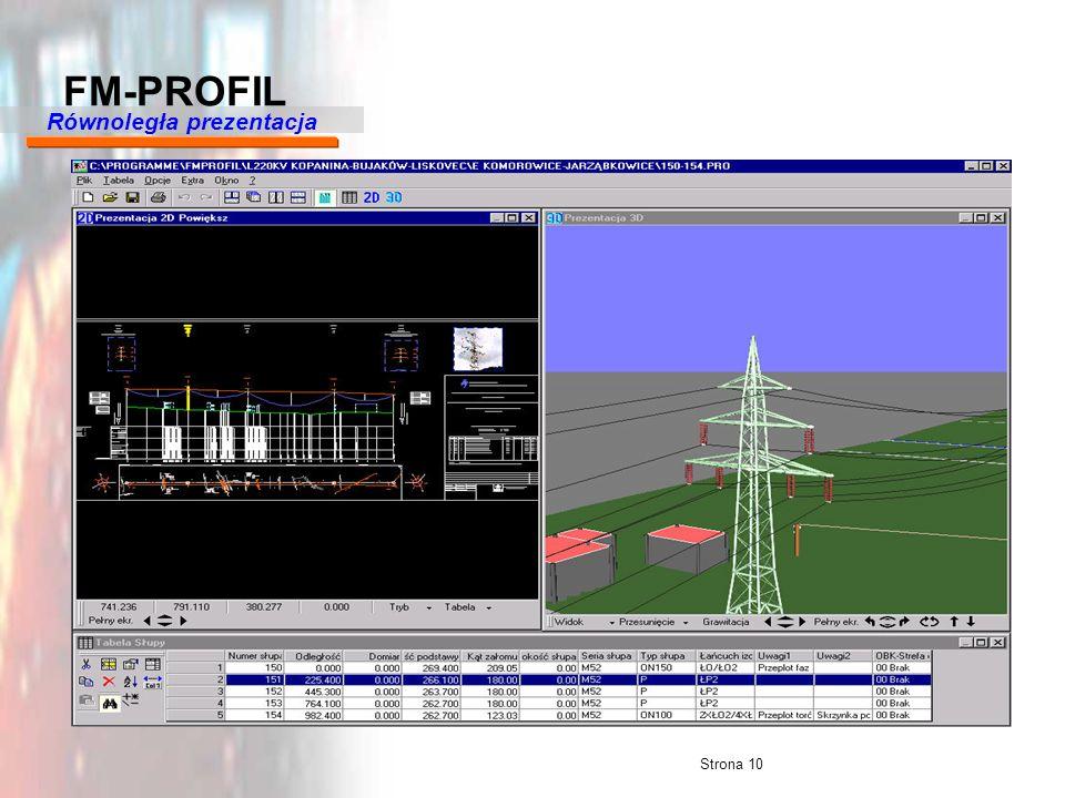 Strona 10 FM-PROFIL Równoległa prezentacja